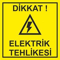 elektrik tehlikesi levha